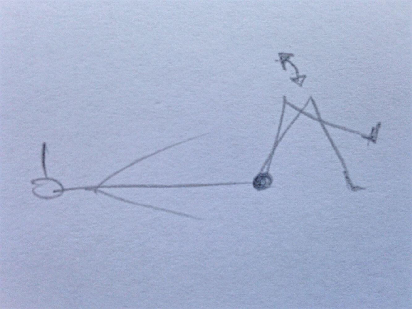 Aus der Rückenlage ein Knie über das andere schlagen und dann langsam seitwärts schaukeln, ggf. den Kopf entgegengesetzt mitschwingen